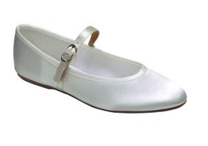 Girls Bar Shoe   Holy Communion flowergirl white or ivory