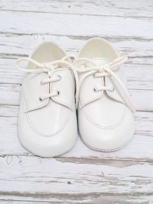 christening-baptism-booties-girls-White-Leather- soft-sole- shoes-Made-In-Italy (2)