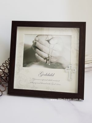 LDPLB6005 5x7 GOD CHILD BROWN PHOTO FRAME-LD