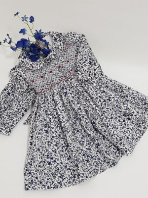 childrens-dress-smocking-embrodery-navy-floral-little-dream (4)